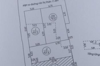 Bán đất kiệt Hà Thị Thân, phù hợp mua thực ở. LH: 09.4141.9797