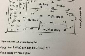 Bán nhà 235m2, MT 10.3m, mặt phố Triệu Việt Vương, Hai Bà Trưng, 530 tr/m2 có TL