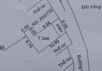 Bán 2 căn nhà LK - DT1(hình L) 5,06m x 10,8m (nở hậu 8,1m) DT2: 4m x 13,5m, P. Tân Chánh Hiệp, Q12