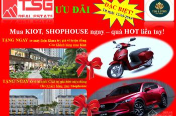 Hot, shophouse TSG Lotus mặt phố Sài Đồng, đối diện bệnh viện Vin, chỉ từ 9-10 tỷ, 0961.169.169