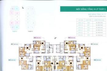 0963777502 bán căn 806 tòa E CC văn phòng Báo Nhân Dân Tasco, DT 86m2, giá 21tr/m2
