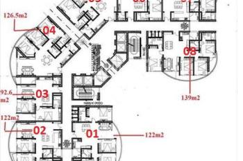 Bán căn góc 1408 N01T8 Ngoại Giao Đoàn, 136.6m2, 4 PN, góc Đông Nam, giá 34 tr/m2