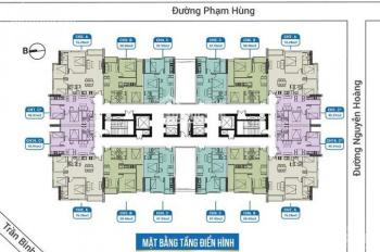 Chị Ngân nhượng lại căn hộ 1505 DT 45m2 CC FLC 18 Phạm Hùng, giá 25tr/m2. 0904999135
