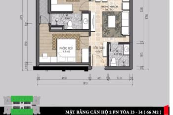 Gđ em chuyển sang căn 3PN nên bán gấp căn 2PN bên CC Iris Garden T1 802 CT3 1tỷ78, 60m2. 0974547377