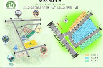 Bán lô đất trục chính vào Samsung Village 4, cách Bưng Ông Thoàn 50m, TC 100%, LH 0903859902