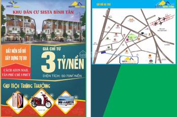 Bán đất nền sổ đỏ Bình Tân, SHR giá bao sổ từ 60tr/m2, DT từ 50 - 71m2, gọi 0909138006 - 0983561002