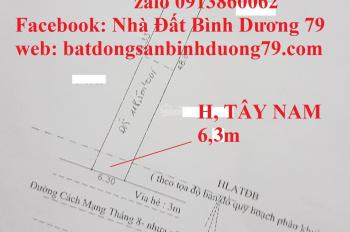 Bán nhà mặt tiền ngang 6,3m đường CMT8, An Thạnh, Thuận An, Bình Dương. DT: 307m2, Tây Nam. 11,5 tỷ
