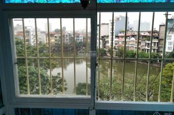 Bán căn hộ 1.55 tỷ ngõ 88 Võ Thị Sáu, DT 55m2, view mặt hồ Quỳnh, 2 mặt thoáng, hình thật 100%