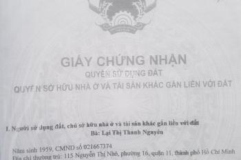 Bán đất đường Lương Văn Nho, nở hậu, hẽm rộng, khu vực an ninh, đã có sổ. LH: 0908 312 457