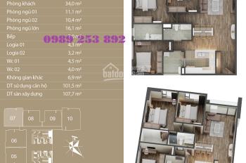 Bán chung cư cao cấp N01T4 Ngoại Giao Đoàn, căn góc view siêu đẹp. LH: 0989 253 892
