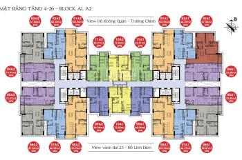 Bán chung cư 176 Định Công Sky Central, 1909: 66.06m2 và 1606: 90,87m2, 24 tr/m2. O971 O85 383