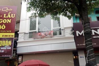 Cho thuê nhà mặt phố Trần Khát Chân, 70m2 x 2 tầng, MT 5.5m, thông sàn, nhà siêu đẹp, đường rộng