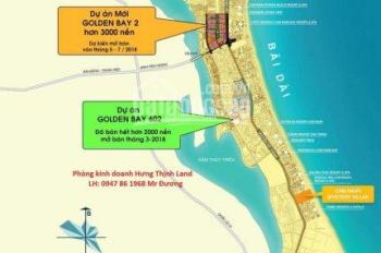 Chính chủ tôi cần bán gấp 5 lô Golden Bay 602, 4 lô GDB 1 giá rẻ nhất thị trường, LH 0931434547