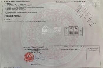 Chính chủ bán lô đất mặt tiền đường 20m Võ Văn Bích, chợ Hóc Môn, sổ hồng riêng, giá 1 tỷ 450