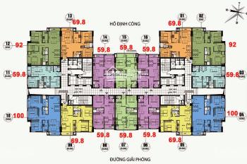 Bán cắt lỗ CHCC CT36 Định Công Dream Home, T1812, DT: 92m2, giá 1,8 tỷ, LH: 0349946789