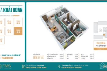 Chính chủ bán căn hộ Tara, TT Q. 8, MT Tạ Quang Bửu, 68m2, giá 1.93 tỷ( VAT + 2% PBT) LH 0931625402
