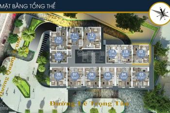 0966.936.305 CC cần bán CH FLC Quang Trung, T1810, DT 93,5m2 và 1811, DT 73,3m2, BC ĐN 18tr/m2