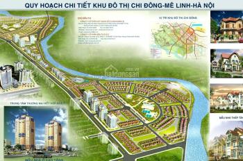 Bán lô đất sổ đỏ 210m2 đường to 35 kinh doanh tốt KĐT Chi Đông, Mê Linh, 15 tr/m2, LH 0963.933.386