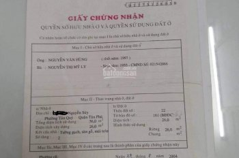 Bán nhà hẻm 3m Nguyễn Súy, DT: 4 x 7m, giá 2,85 tỷ, hotline: 0705922123
