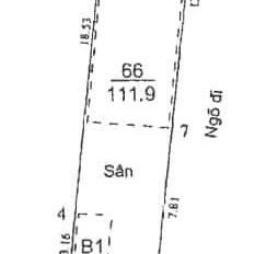 Bán nhà MP Đại La, quy hoạch ổn định, DT 98m2, MT 4.5m, vỉa hè rộng, giá phát mại