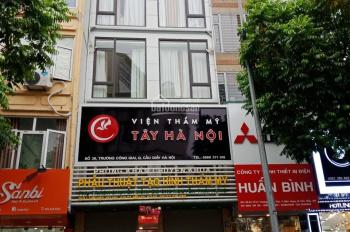 Cho thuê nhà mặt phố Trương Công Giai 80m2 x 5 tầng, MT 5m, thông sàn. (0976.075.019)