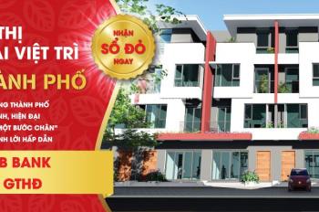 Bán nhà phố 112m2 đối diện chợ Trung Tâm TP Việt Trì, sổ đỏ lâu dài,giá 35tr/m2.LH: 0972397793