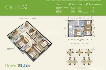 [Green stasr] Chủ nhà gửi bán căn hộ 102m2 giá rẻ bất ngờ. L/h: 0986031296