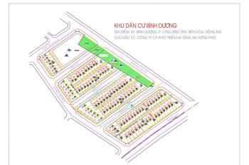 Bán đất dự án KDC KP.Bình Dương (ngay Big C ngã 4 Vũng Tàu) P.Long Bình Tân, Biên Hòa, Đồng Nai