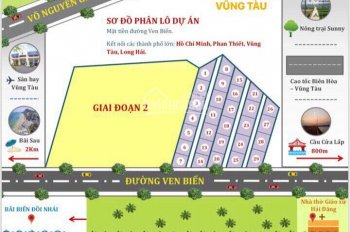 Mở bán 12/29 nền còn lại đất mặt tiền đường Ven Biển P12 TP Vũng Tàu giá chỉ 5.8tr/m2, sổ riêng/nền