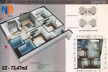 Chính chủ bán căn góc 3PN 74m2 dự án CT1 Yên Nghĩa, giá chỉ 10.9tr/m2, LH: 0369046896
