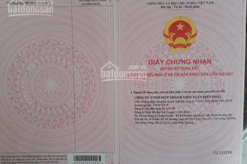 Cần bán đất Phú Chánh, Bình Dương, lô 75m2, sổ đỏ, giá 890tr, thổ cư 100%, đường 13m. 0865 616 490