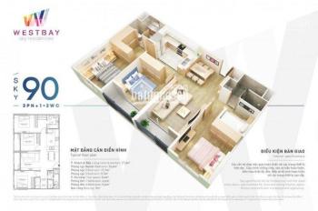 Cho thuê Căn hộ West Bay Ecopark giá rẻ nhất thị trường, LH: 091 6789 826