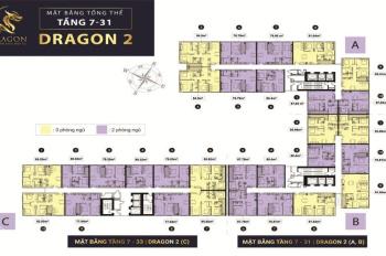 Căn hộ 3PN 85m2 Dragon tầng trung thanh toán 704 triệu, sở hữu ngay căn suất nội bộ từ chủ đầu tư