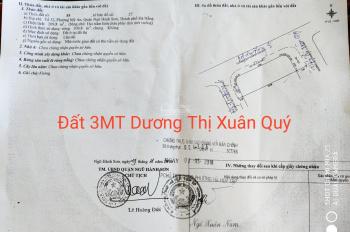 Cần bán lô đất 3 MT Dương Thị Xuân Quý, gần chợ Bắc Mỹ An cách biển 500m. DT: 209.8m2, 90tr/m2