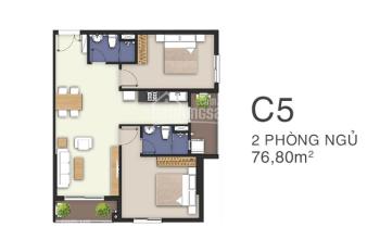 Bán căn C5 tầng cao, diện tích 76,8m2 giá bán 2,47 tỉ, giá thật, LH 0938234510