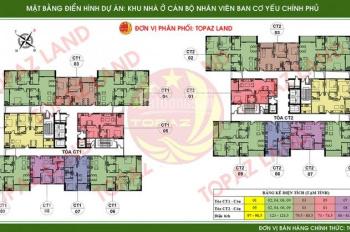 Bán gấp căn 12B05 CT2 chung cư Ban Cơ Yếu Chính Phủ. Giá siêu rẻ thu hồi vốn, 0963891616