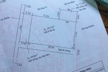 Chính chủ cần bán miếng đất 54m2 khu dân cư Cát Bi 3. Giá 410 triệu