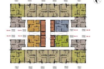 Chính chủ cần bán cắn hộ CT1A-22-18, 2 ngủ,ban công Đông Nam, 61 m2 tại Hateco Xuân phương.