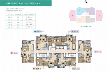 Bán căn hộ CC Xuân Phương Báo Nhân Dân tòa C, căn 04, DT: 93.77m2, giá: 20.5 tr/m2. LH: 0986854978