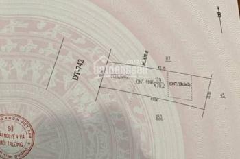 Đất mặt tiền đường ĐT 742 đối diện cổng sau khu VSIP 2 mở rộng