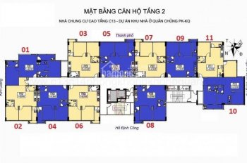 Bán gấp chung cư C13 Định Công Hạ căn góc 1001, DT 68,39m2 (2PN, 2WC), giá 19 tr/m2, LH: 0907566886