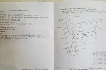 Tôi cần bán gấp lô đất Thạnh Xuân, Quận 12, diện tích 158,7m2 giá 6 tỷ thương lượng. LH 0896408516