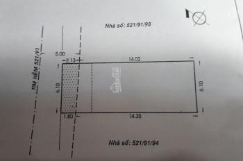 Chính chủ bán gấp nhà 68/21 Út Tịch, P4, Quận Tân Bình, (6.1x16)m vuông vức, giá 15.8 tỷ