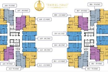 Chính chủ bán chung cư Thống Nhất Complex căn 1803 tòa B, DT 88.22m2, giá 29.5tr/m2 LH 0969749993