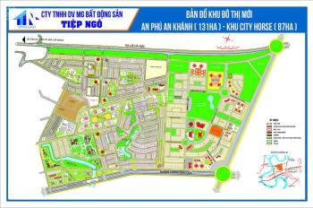 Bán gấp lô đất đường 36 khu C, An Phú An Khánh, gần hồ sinh thái, giá 140tr/m2, DT: 10x16m, sổ đỏ