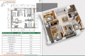 BÁN CẮT LỖ CĂN HỘ 3 ngủ, S= 80m, GIÁ 1.390 TỶ. Bao Phí – Dự án HH2, Xuân Mai complex Dương Nội