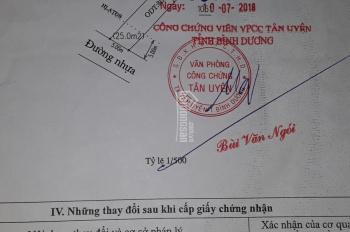 Bán nhanh trong tuần 5x37m=183m2, TC 80m2, thuộc phường Thạnh Phước, Tân Uyên, Bình Dương