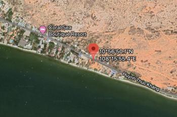 Tôi bán 1000m2 có 300m2 thổ cư mặt biển đường Huỳnh Thúc Kháng, Hàm Tiến, TP Phan Thiết