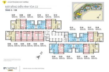 Bán cắt lỗ 100tr căn 1,5PN tòa C2 tầng 15 dự án D'Capitale Trần Duy Hưng. LH: 0934464599