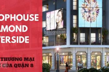 Shophouse Diamond Riverside MT Võ Văn Kiệt. đã xây đến tầng 12, giá 25tr/m2 hoàn thiện 100% pháp lý